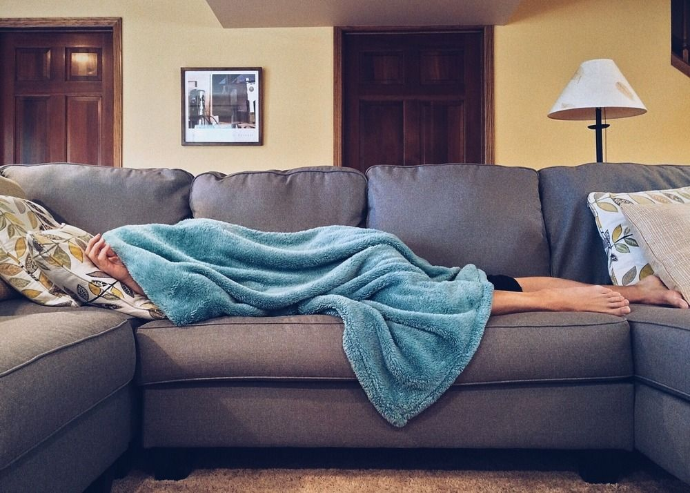 Employee staying home because they're sick